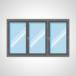 Fenêtre 3 ouvrants à la française