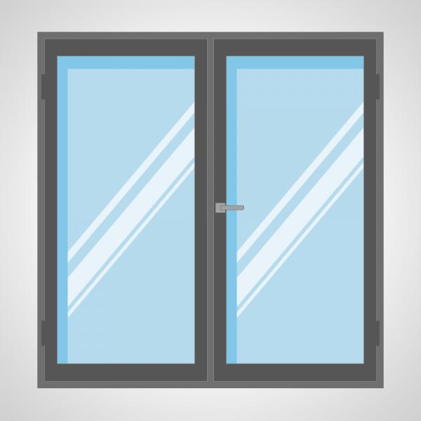 Porte fenêtre 2 ouvrants
